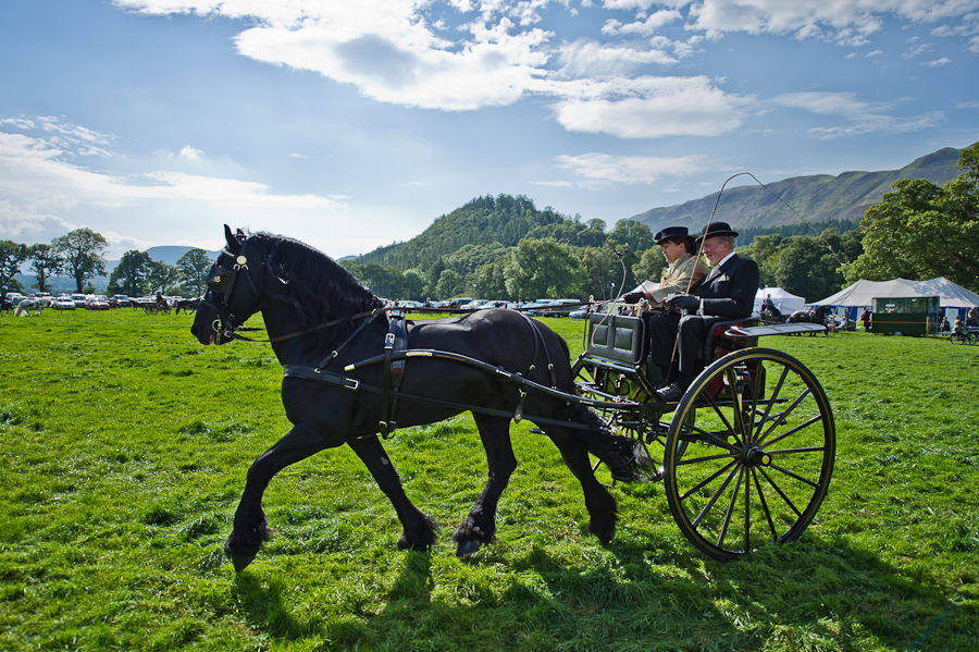 Horse and cart at loweswater show